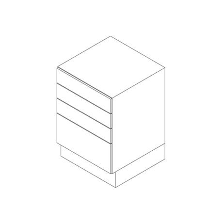 Base Cabinet, 4 Drawer