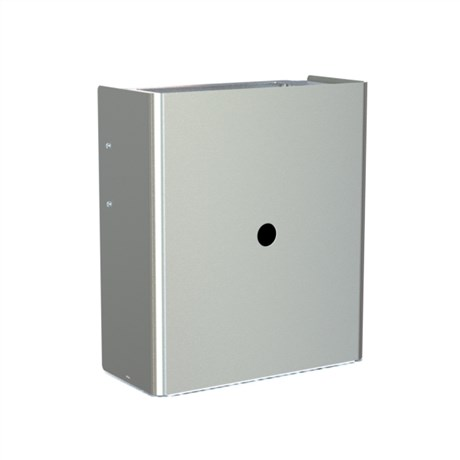Wall mounted waste bin with square opening, 25 l