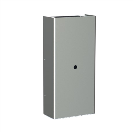 Wall mounted waste bin with square opening, 60 l