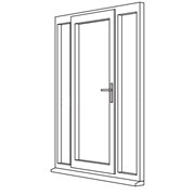 Heritage 2800 Flush Residential Door - R6 Open Out