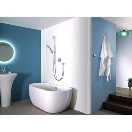 Quartz - Digital Divert Concealed With Adjustable Head And Bath Overflow Filler