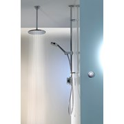 Quartz - Digital Divert Exposed With Adjustable Head And Ceiling Fixed Drencher