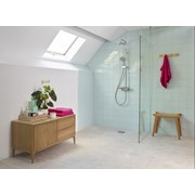 MIDAS 220 - Shower Column Mixer With Adjustable Head And Fixed Drencher