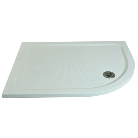 Anti-Slip Shower Tray Offset Rectangular Curve Right Hand