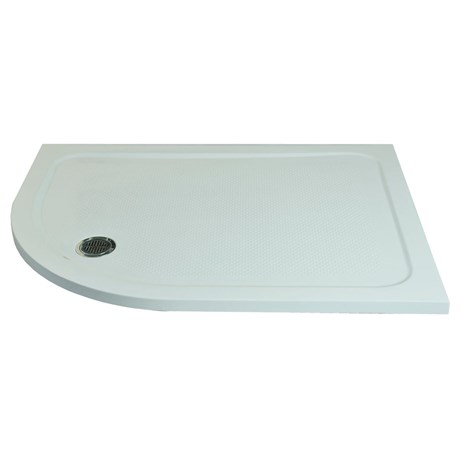 Anti-Slip Shower Tray Offset Rectangular Curve Left Hand