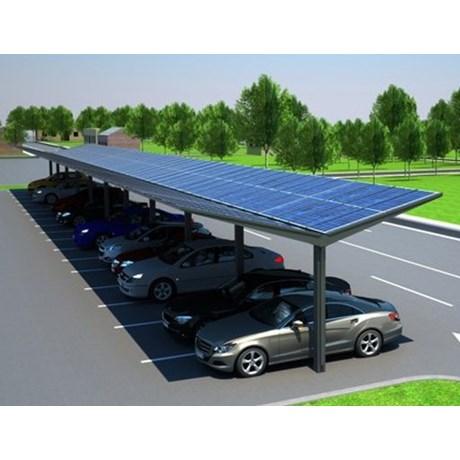 Kensington Dual-Pitch Solar Canopy - 30 kWp