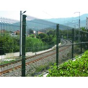 Nylofor 3D + Twilfix - Metal mesh fence panel
