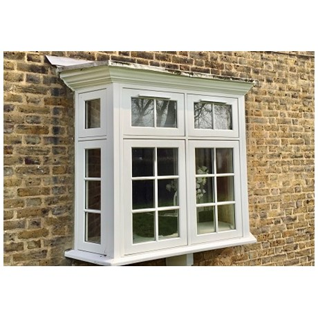 Traditional Flush Casement Timber Windows - Double Side Hung Floating Mullion