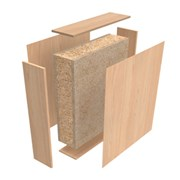 HALSPAN® Optima 44 mm Internal Fire Rated Door Blank - Double Acting Single Doors
