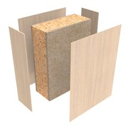 HALSPAN® 90 Fire Rated Interior Grade Door Blanks - Latched Single Acting Double Doors With Overpanel