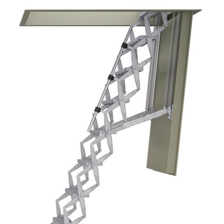 Supreme F60 / F90 Heavy Duty Retractable Ladder with Fire Rated Steel Hatch
