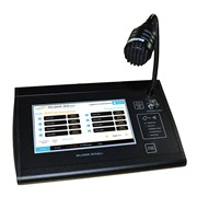 Touch screen control microphone