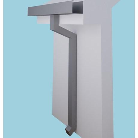 Dales Contemporary Square Aluminium Pipe - Square Rainwater Pipe