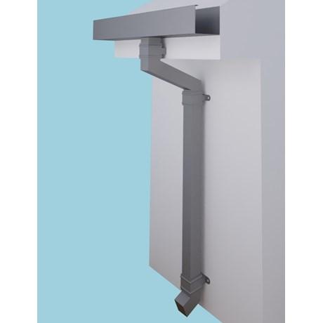 Dales Square & Rectangular Aluminium Pipe with Cast Collars 76.2 x 76.2 mm