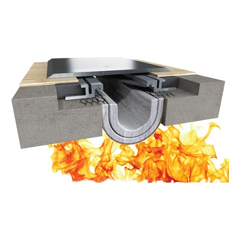 Fireline™ 520 Fire Blanket Expansion Joint System - Bottom Mount, Floor to Wall