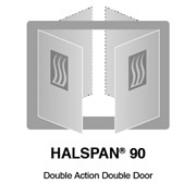 HALSPAN® 90 Fire Rated Interior Grade Door Blanks - Double Acting Double Doors
