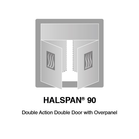 HALSPAN® 90 Fire Rated Interior Grade Door Blanks - Double Acting Double Doors With Overpanel