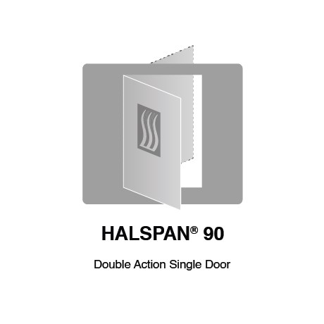 HALSPAN® 90 Fire Rated Interior Grade Door Blanks - Double Acting Single Doors