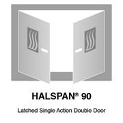 HALSPAN® 90 Fire Rated Interior Grade Door Blanks - Latched Single Acting Double Doors