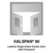 HALSPAN® 90 Fire Rated Interior Grade Door Blanks - Latched Single Acting Double Doors With Overpanel