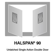 HALSPAN® 90 Fire Rated Interior Grade Door Blanks - Unlatched Single Acting Double Doors