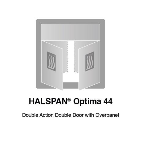 HALSPAN® Optima 44 mm Internal Fire Rated Door Blank - Double Acting Double Doors With Overpanel