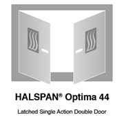 HALSPAN® Optima 44 mm Internal Fire Rated Door Blank - Latched Single Acting Double Doors