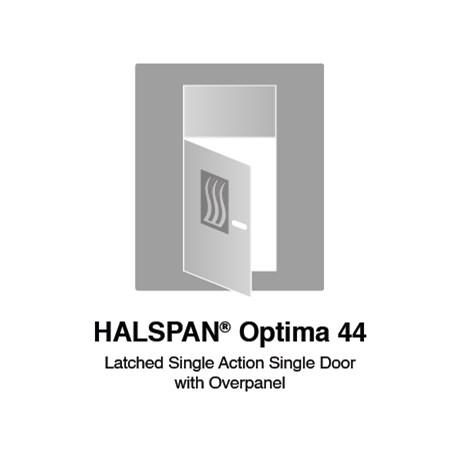 HALSPAN® Optima 44 mm Internal Fire Rated Door Blank - Latched Single Acting Single Doors With Overpanel