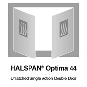 HALSPAN® Optima 44 mm Internal Fire Rated Door Blank - Unlatched Single Acting Double Doors