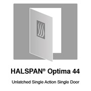 HALSPAN® Optima 44 mm Internal Fire Rated Door Blank - Unlatched Single Acting Single Doors
