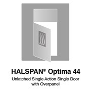 HALSPAN® Optima 44 mm Internal Fire Rated Door Blank - Unlatched Single Acting Single Doors With Overpanel