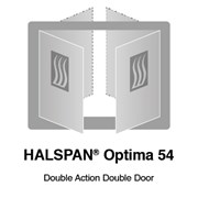 HALSPAN® Optima 54 mm Internal Fire Rated Door Blank - Double Acting Double Doors