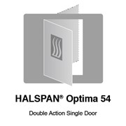 HALSPAN® Optima 54 mm Internal Fire Rated Door Blank - Double Acting Single Doors