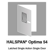 HALSPAN® Optima 54 mm Internal Fire Rated Door Blank - Latched Single Acting Single Doors