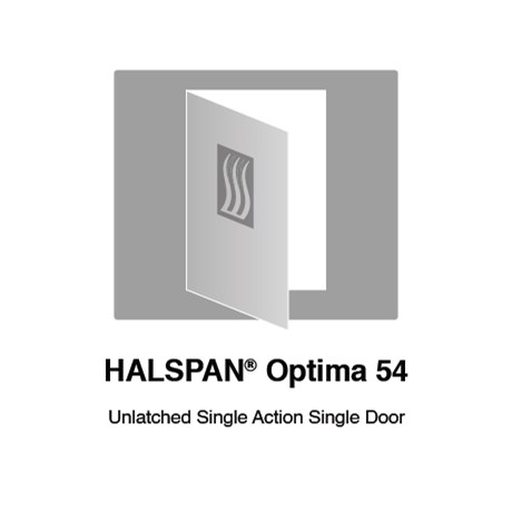 HALSPAN® Optima 54 mm Internal Fire Rated Door Blank - Unlatched Single Acting Single Doors