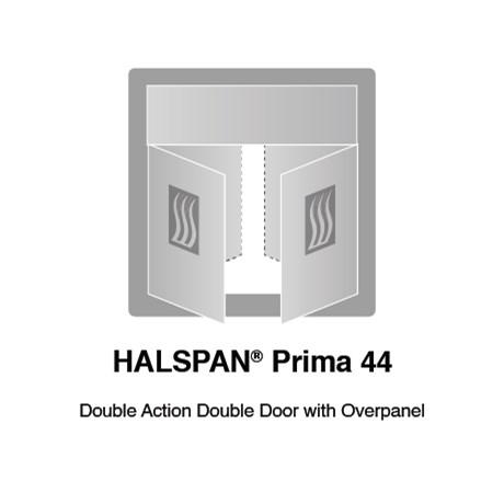 HALSPAN® Prima 44 mm Internal Fire Rated Door Blank - Double Acting Double Doors With Overpanel
