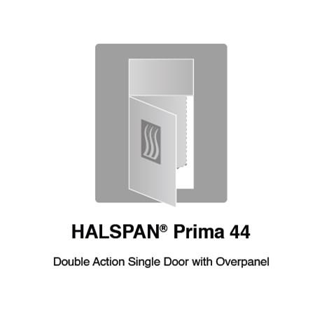 HALSPAN® Prima 44 mm Internal Fire Rated Door Blank - Double Acting Single Doors With Overpanel