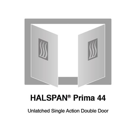 HALSPAN® Prima 44 mm Internal Fire Rated Door Blank - Unlatched Single Acting Double Doors