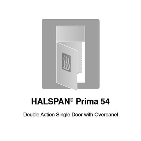 HALSPAN® Prima 54 mm Internal Fire Rated Door Blank - Double Acting Single Doors With Overpanel