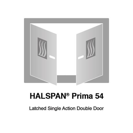 HALSPAN® Prima 54 mm Internal Fire Rated Door Blank - Latched Single Acting Double Doors