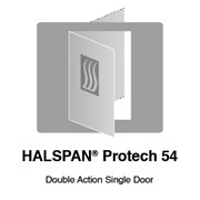 HALSPAN® ProTech 54 mm Interior Grade Door Blanks - Double Acting Single Doors