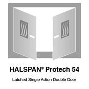 HALSPAN® ProTech 54 mm Interior Grade Door Blanks - Latched Single Acting Double Doors
