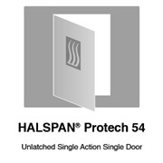 HALSPAN® ProTech 54 mm Interior Grade Door Blanks - Unlatched Single Acting Single Doors