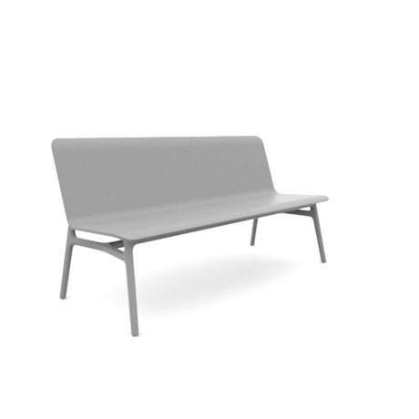Axyl Bench - Wood Shell