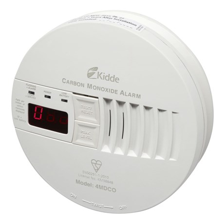 Kidde Mains-Powered CO Alarm with Digital Display and Rechargable Lithium Back-Up Battery