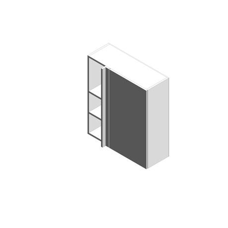 Linear Corner Wall Cabinets - Tall