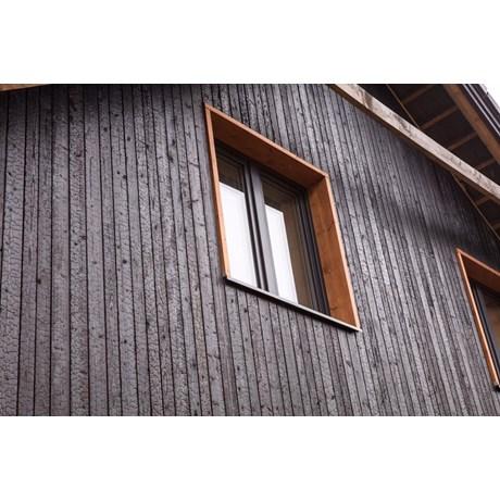 Charred Burnt Scorched Carbonised Blackened Timber Cladding – Siberian Larch, Accoya, Thermowood Ash, Kebony, Spruce, European Oak SertiWOOD®