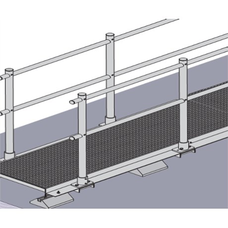Ascent Aluminium Walkway System for Flat Roofs