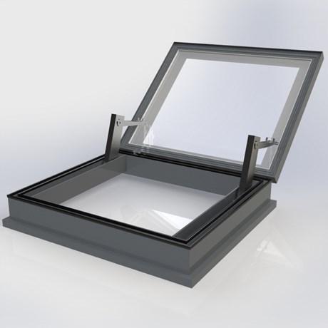 Flatglass Hinged AOV Access