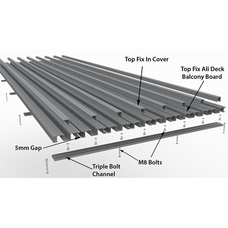 Flat Fire Resistant Balcony Decking